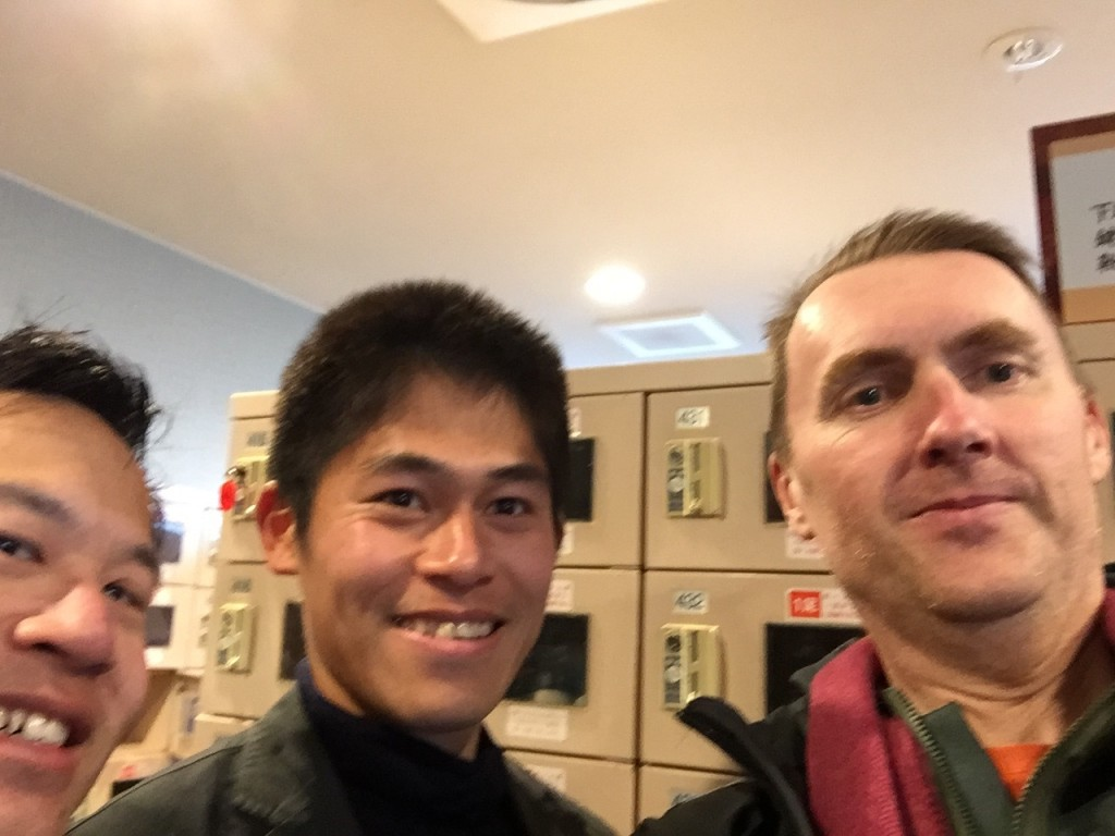 Brush with celebrity fame, a selfie with Yuki Kawauchi.